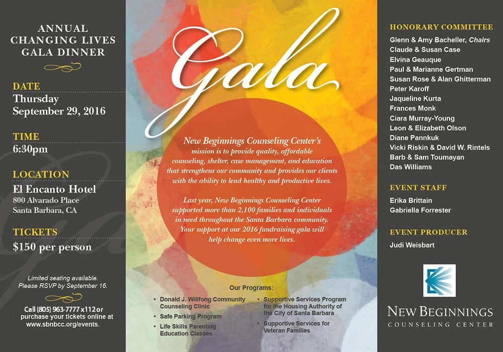 New Beginnings Counseling Center Gala Event