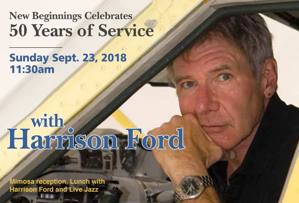 New Beginnings 50 Years - Fundraising Event with Harrison Ford