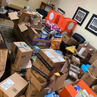 Boxes for Donations in Group Room