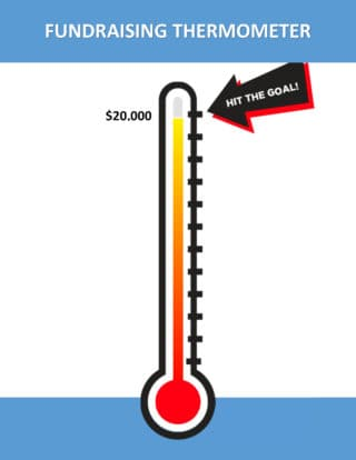 Matching Grant Thermometer