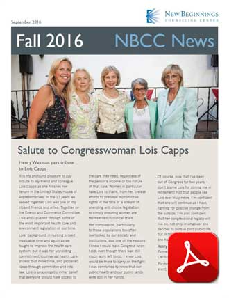 New Beginnings Newsletter