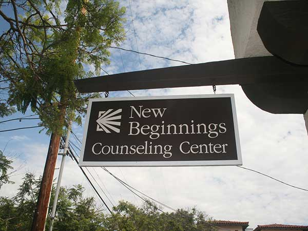 New Beginnings Counseling Center sign