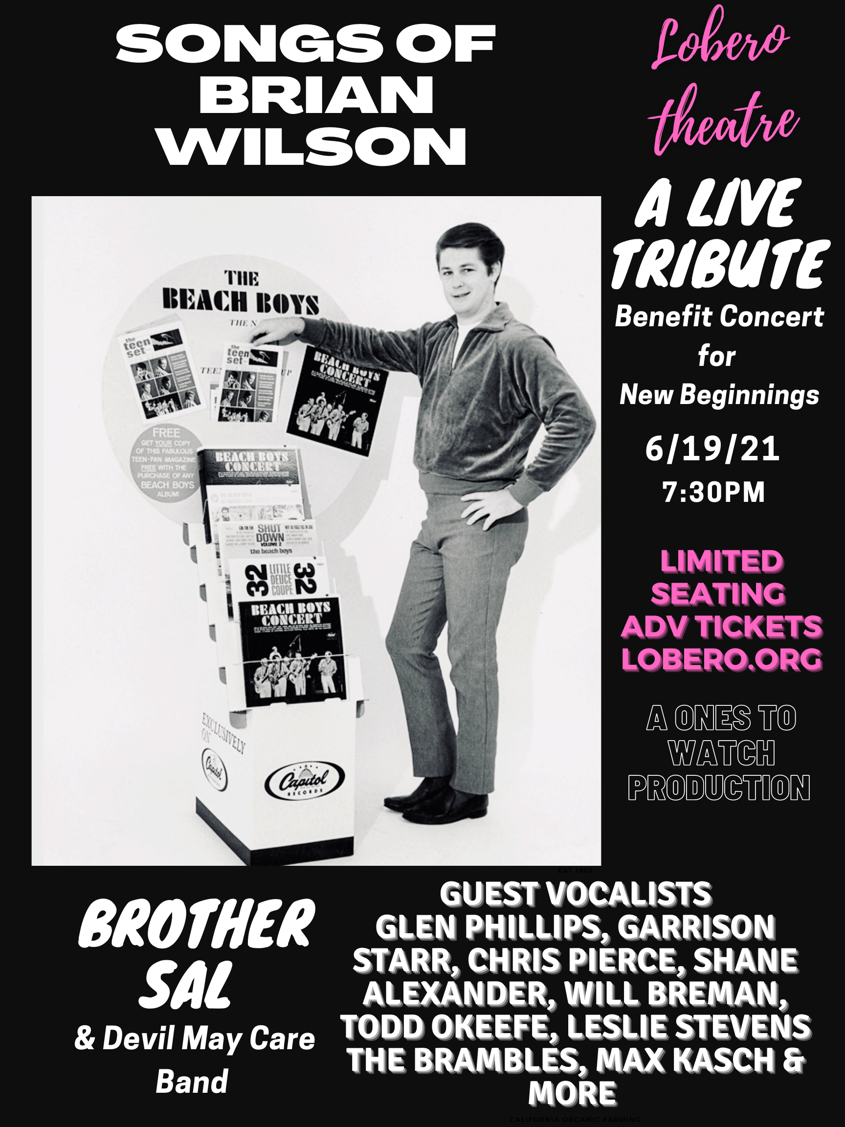 Songs of Brian Wilson Event Flyer