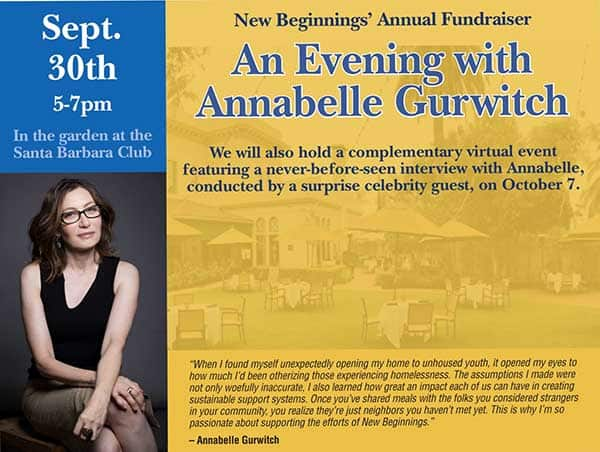 Annual Fundraiser with Annabelle Gurwitch
